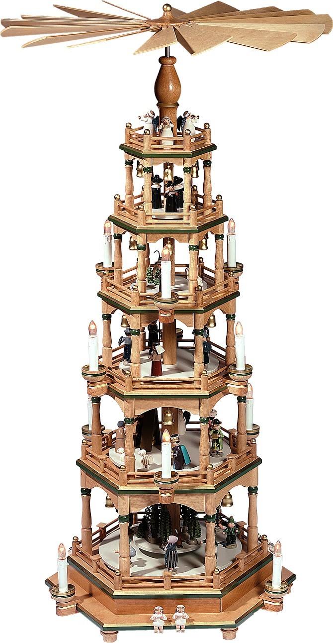 f nfst ckige elektrische weihnachtspyramide aus dem erzgebirge. Black Bedroom Furniture Sets. Home Design Ideas