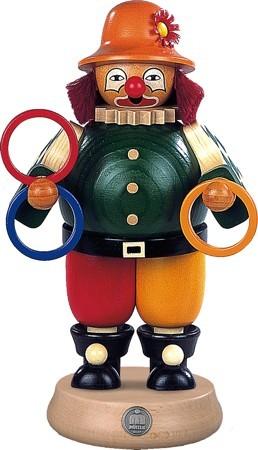 R�uchermann Clown, Jongleur mit Ringen, gro�