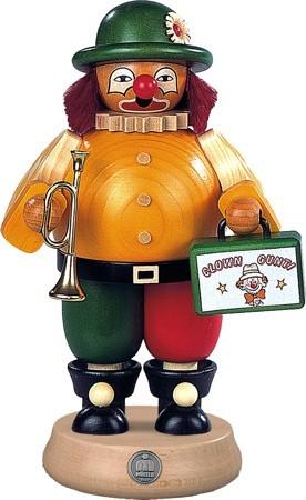 R�uchermann Clown mit Trompete und Koffer, gro�