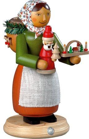R�uchermann, Holzspielzeugverk�uferin, 24 cm gro�