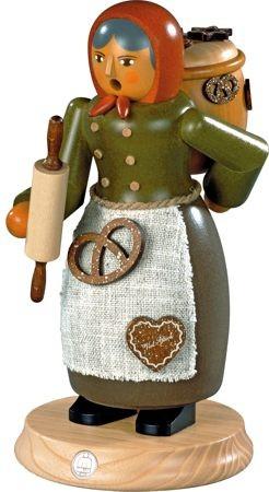 Räuchermann, Lebkuchenverkäuferin, 25 cm groß