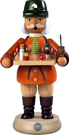 Räuchermann Spielwarenverkäufer, 23 cm groß