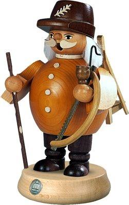 Räuchermann Waldarbeiter, braun, mittelgroß