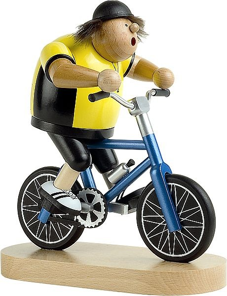Räuchermännchen Radfahrer