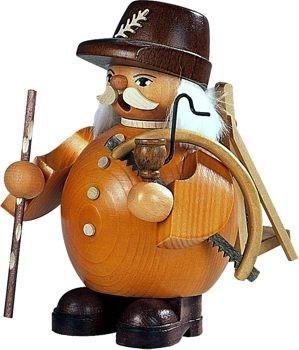 Räuchermann Waldarbeiter, braun, Größe: 14 cm