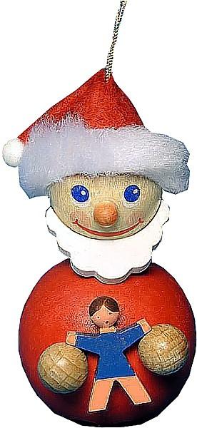 Baumbehang Santa mit Puppe blau