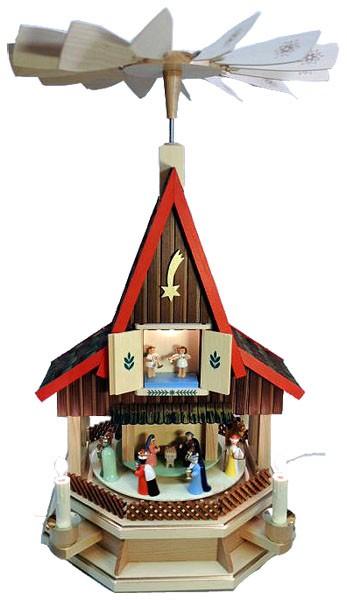 Adventshaus klein, elektrisch beleuchtet