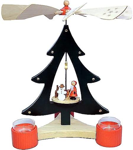 Baumpyramide Bescherung für Teelichte