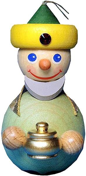 Baumbehang K�nig mit gelbem Turban