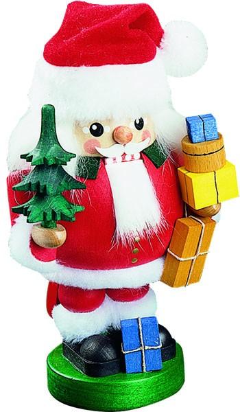 Nussknacker Santa mit Paketen