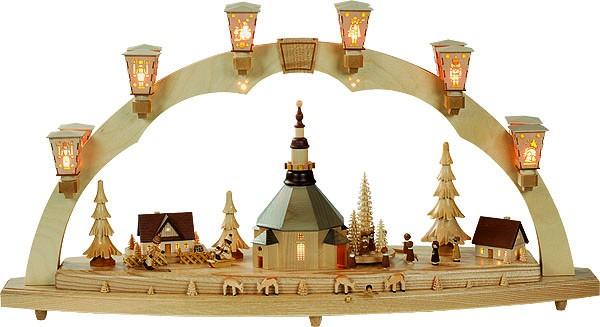 SB Seiffener Kirche mit Kurrende und Spielwerk