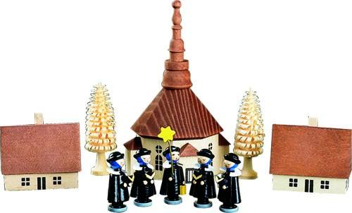 Seiffener Kirche m. Kurrende, 10-teilig