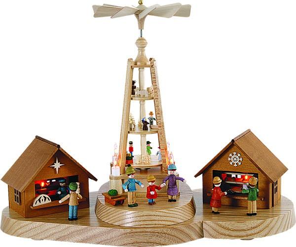 Weihnachtsmarkt mit Pyramide