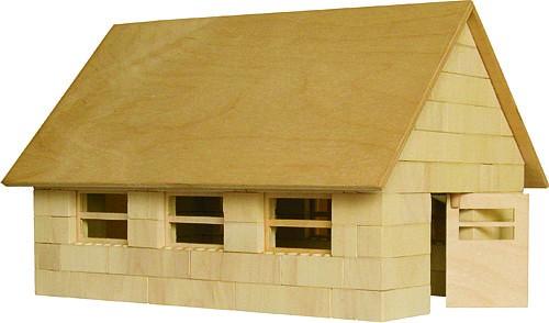 Bausatz f�r den Rinderstall<br> - der Holzbaustein mit dem Klick -
