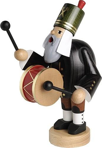 Räuchermann Bergmann mit Trommel