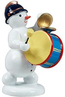 Schneemann mit gro�er Trommel und Becken