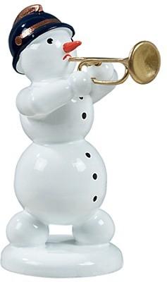Schneemann mit Jazzetrompete