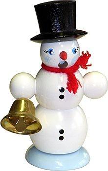 Räucher-Schneemann mit Glocke
