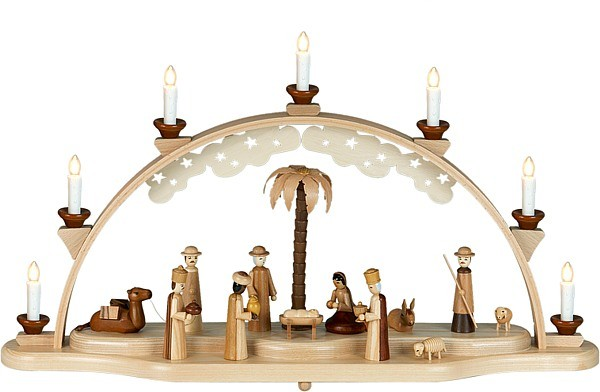 Schwibbogen Christi Geburt / natur