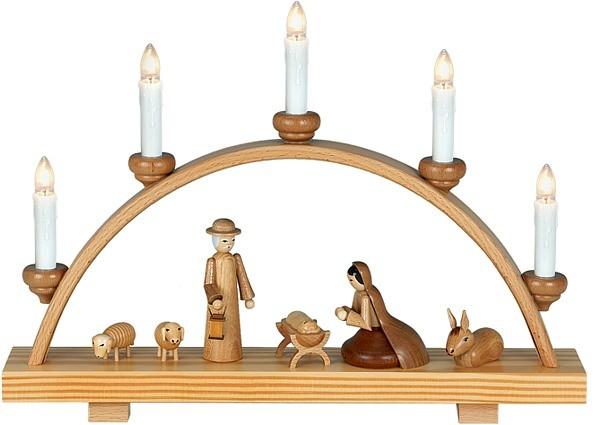 Schwibbogen Heilige Familie / natur