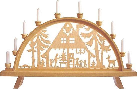 """Schwibbogen """"Waldhaus"""" für Kerzen"""