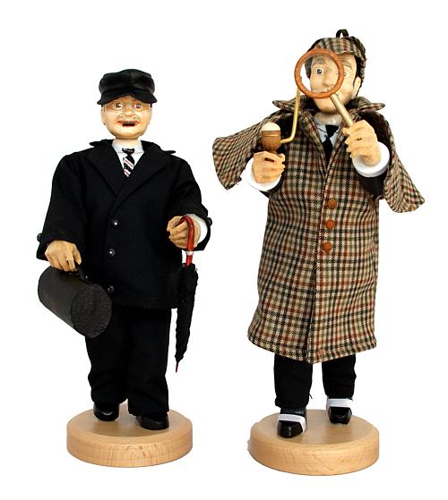 Sherlok Holmes oder Dr. Watson, in textilem Outfit