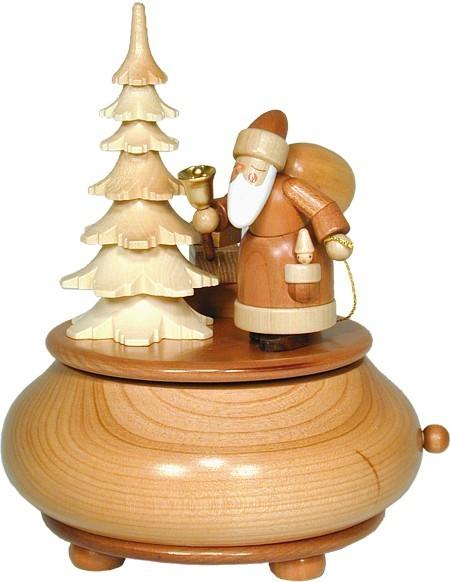 Spieldose natur Weihnachtsmann
