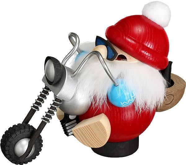 Kugelräucherfigur Biker-Nikolaus