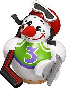 Kugelräucherfigur Cool-Man Eishockeyspieler, weiß