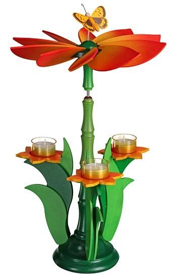Teelichtpyramide -Blüte-