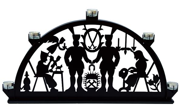 Metallschwibbogen für Teelichter - Schwarzenberger Motiv