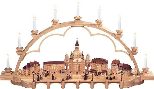 Schwibbogen Alt Dresden -groß- Natur