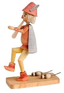 Holzfigur Rattenfänger von Hameln