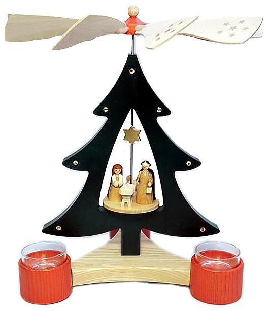 Baumpyramide Christi Geburt f�r Teelichte