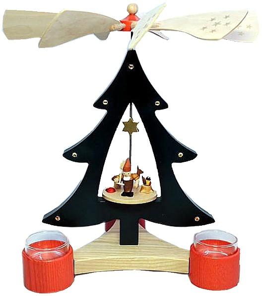 Baumpyramide Zwerg mit Reh f�r Teelichte