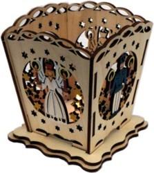 Tischlaterne für Teelicht - Engel und Bergmann