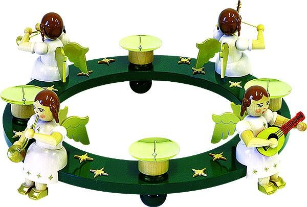 Tischaufsatz Engelquartett mit Kerzenschalen