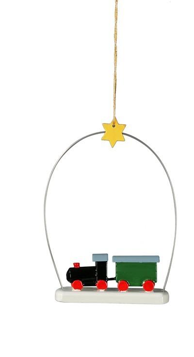 Weihnachtlicher Baumbehang Eisenbahn 3 teilig