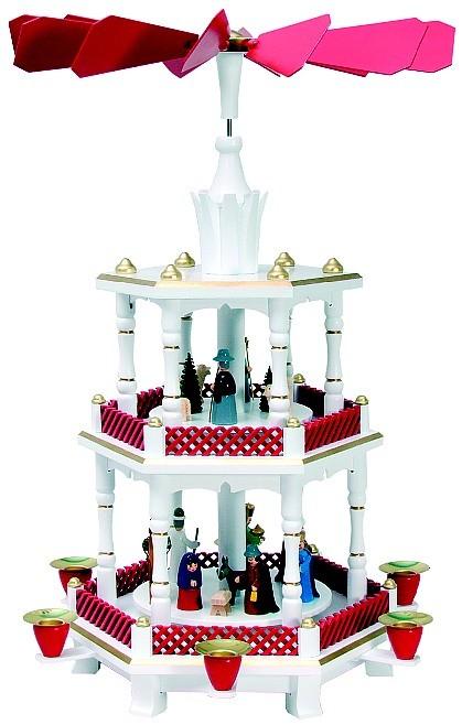 Weihnachtspyramide Geburt, Weihnachtsrot