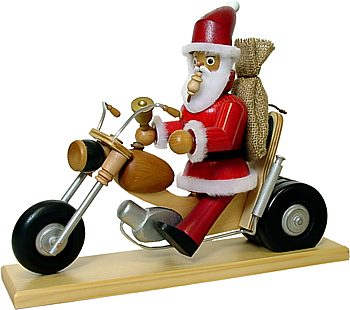Räuchermännchen Weihnachtsmann Biker