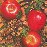 Servietten, Apples with nuts