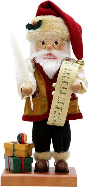 Nussknacker Weihnachtsmann mit Namensliste