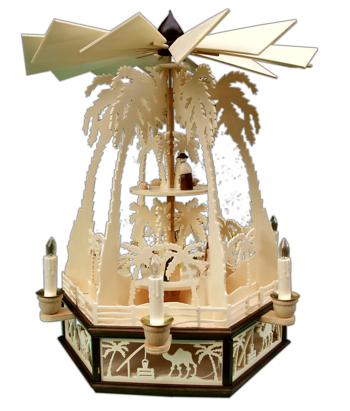 Weihnachtspyramide Palmen