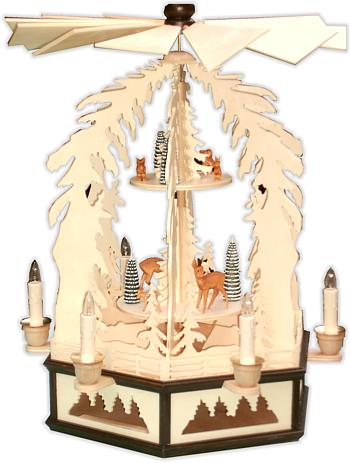 """Weihnachtspyramide 2-stufig """"Waldtiere"""""""