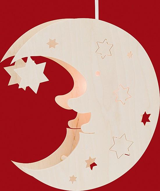 Beleuchtetes Fensterbild Mond
