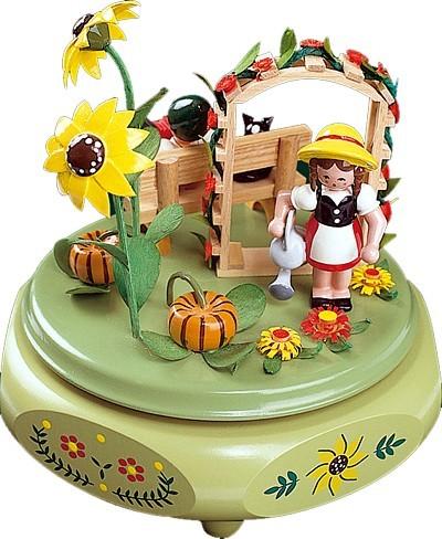 Spieldose Gartenidylle