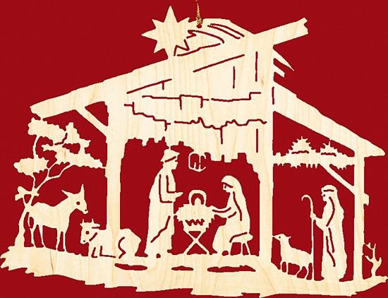 Fensterbild Weihnachten Christgeburt im Stall