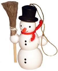 Schneemann mit Besen, Baumbehang