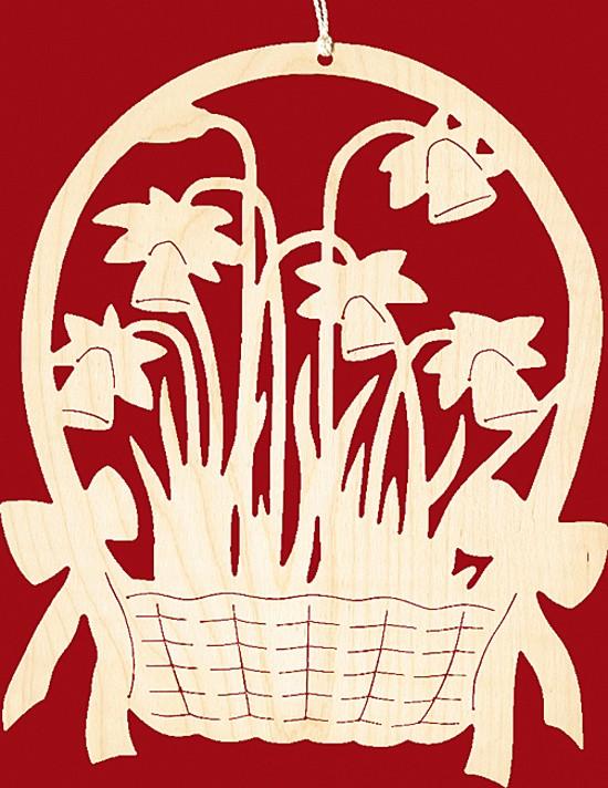 Fensterbild Ostern Narzissenkorb