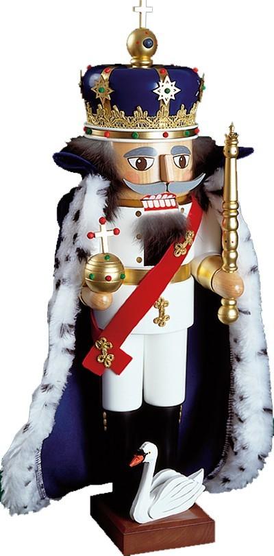 Nussknacker König Ludwig II. mit Umhang